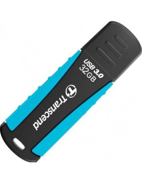 Transcend JetFlash 810 32GB USB 3.0 32Go USB 3.0 (3.1 Gen 1) Type A Noir, Bleu lecteur USB flash