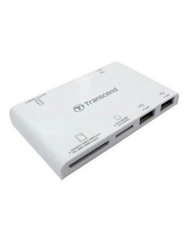 TRANSCEND Multi Card Reader P7, White(Card Reader + HUB)